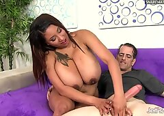 Chubby Danny Lynn Shows Off Her Big Tits and Gets Her Pussy Drilled
