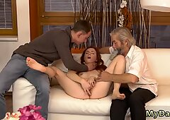 Old father young duddy s boss s daughter creampie and daddy says to play nice first time