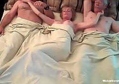 Threesome For Horny Amateur GILF