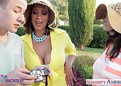 Busty wives Ava Addams and Eva Notty sharing a large prick