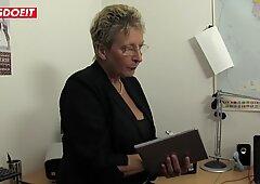 LETSDOEIT - German Granny Fucked Hard By Her Son